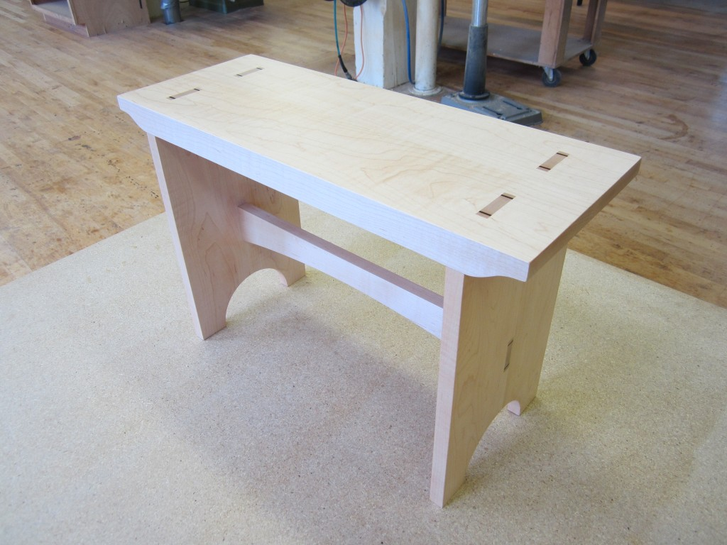 An ebony table created in our Intro to Furniture and Cabinetmaking class.
