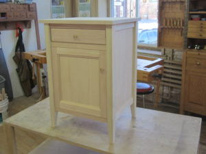 A cabinet created in our Furniture and Cabinetmaking 3 woodworking class.